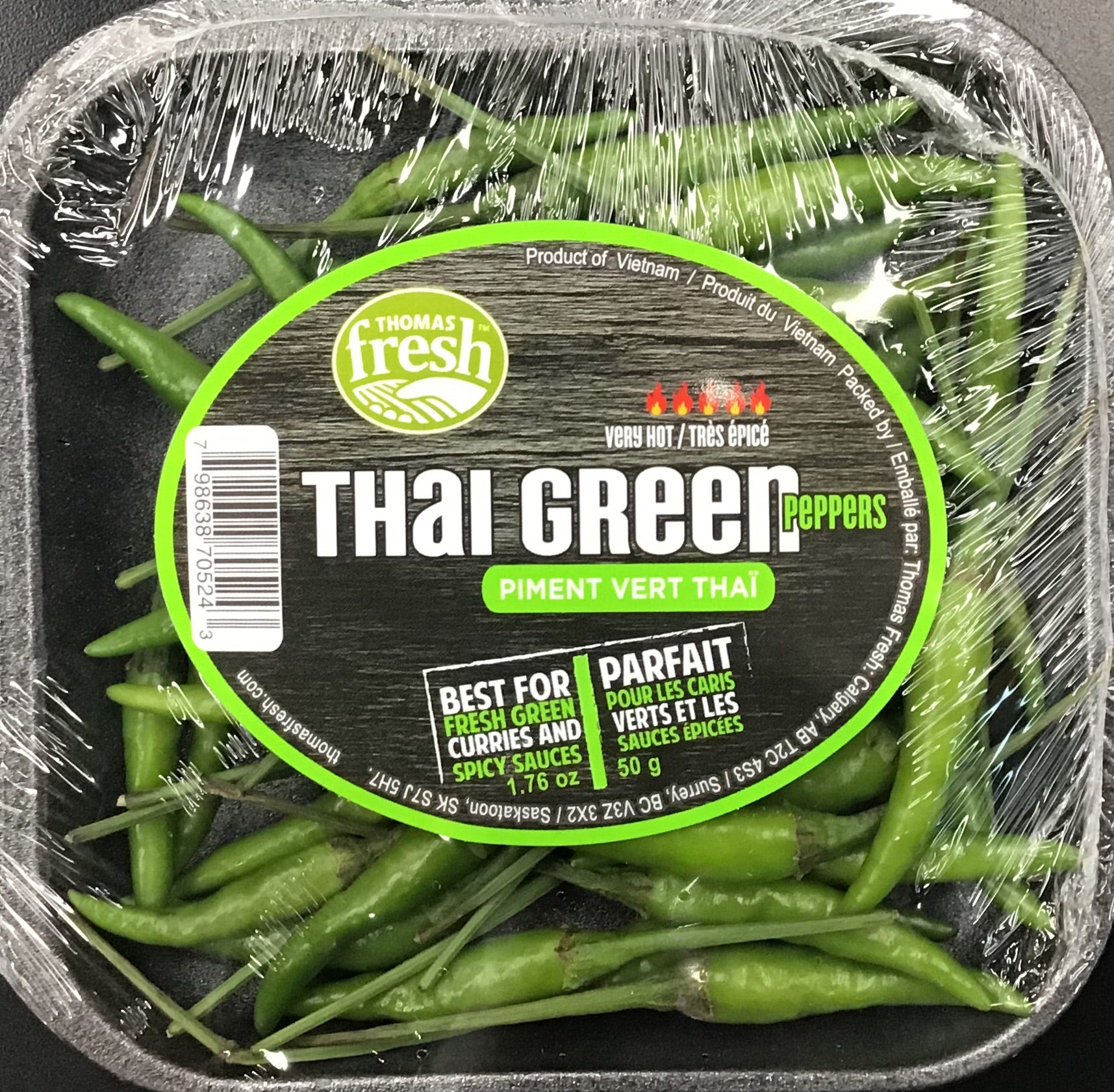 Fresh Thai Chilli Tray 50g
