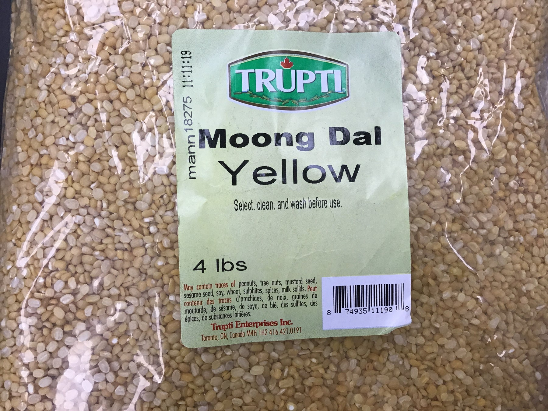 Trupti Moong Dal Yellow 4 LB