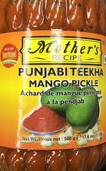 Mother's Recipe Punjabi Teekha Mango Pickle 500G