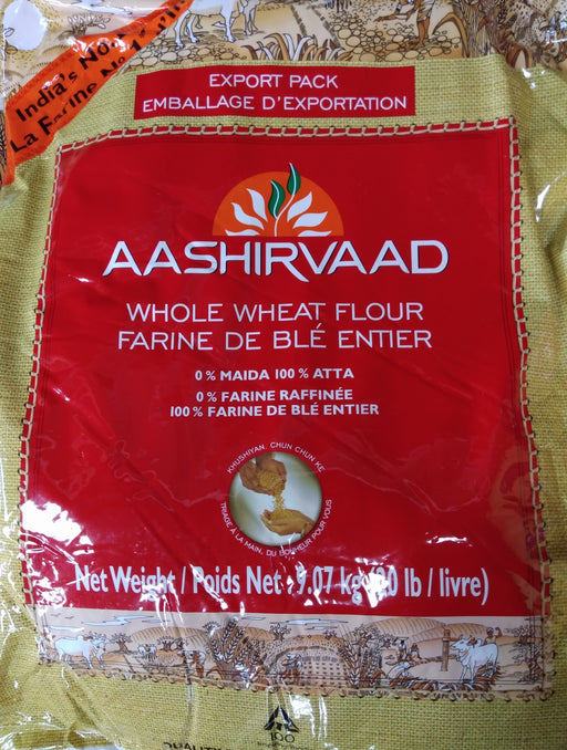 Aashirvaad Whole Wheat Flour 20lbs