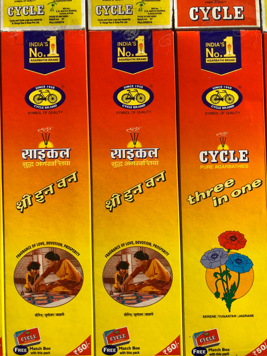 Cycle Pure Agarbatti 3 in 1  124gm