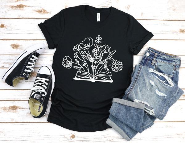 Wildflower Book Unisex Shirt