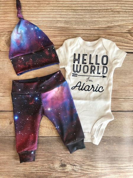 Galaxy Newborn Outfit, Universe, World, - Josie and James