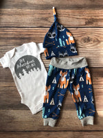 The Adventure Begins Southwest Coming Home Outfit, Newborn Outfit - Josie and James