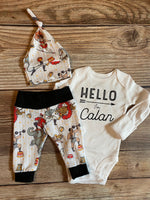 Circus Newborn Outfit, Hello I'm