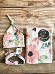Poppy Floral Swaddle Set - Josie and James