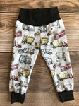 Gray Truck and Motorcycle Pants, Joggers, Leggings, Spring, Toddler Pants,