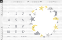 Moon and Star Milestone Blanket - Josie and James
