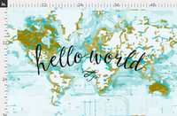 Hello World Typography Blanket, Flat Lay blanket, milestone blanket - Josie and James