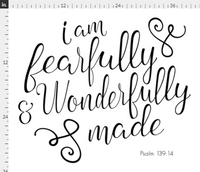Fearfully and Wonderfully Typography Blanket, Flat Lay blanket, milestone blanket - Josie and James