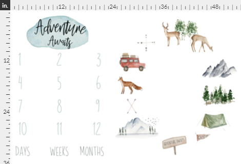Adventure Milestone Blanket - Josie and James