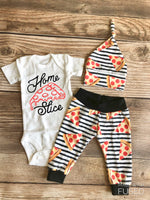 Home Slice Pizza Newborn Outfit, Spring, Pizza, pepperoni - Josie and James