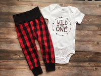 Wild and One Buffalo Plaid Birthday Outfit, Buffalo Check, Plaid, Wild One - Josie and James