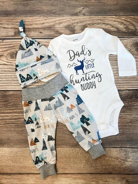 89f7db86e Dad's Hunting Buddy Adventure Awaits Newborn Outfit, Coming Home Outfit
