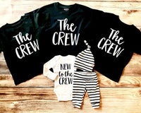 The Crew - Sibling Shirt, Black Shirt - Josie and James
