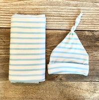 Blue Stripe Swaddle Set - Josie and James