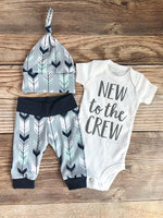 Mint Navy Arrow Newborn Outfit - Josie and James