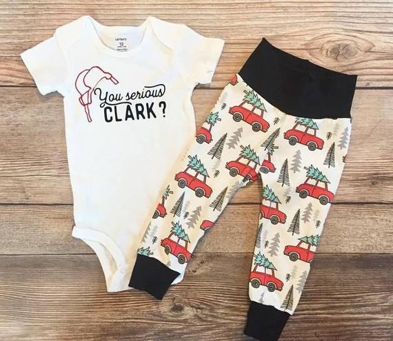 Toddler Christmas Outfit.You Serious Clark Baby Toddler Christmas Outfit