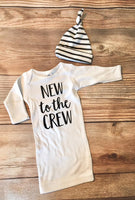 New to the Crew Newborn Gown, Neutral,