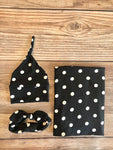 Annie Polka Dot Swaddle Set - Josie and James