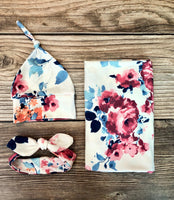 Meredith Floral Swaddle Set - Josie and James