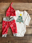 First Christmas Red Snowflake Christmas Outfit, Newborn Outfit