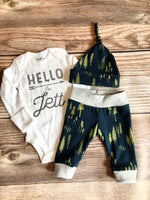 Midnight Forest Baby Name Newborn Outfit