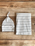 Gray Stripe Swaddle Set - Josie and James