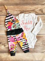 Baby Name Fall Spice Newborn Outfit, Coming Home Outfit, Going Home Outfit,