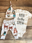 New to the Crew Woodland Coming Home Outfit, Newborn Outfit - Josie and James