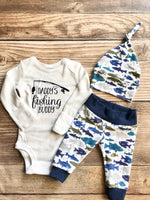 Daddy's Fishing Buddy, Gone Fishing, Newborn Fishing Outfit - Josie and James