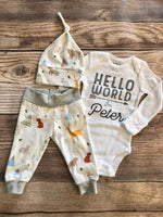 Hello World White Woodland Coming Home Outfit - Josie and James