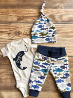 Fishing Newborn Outfit, Gone Fishing, Newborn Fishing Outfit - Josie and James