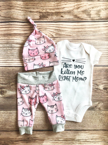 Kitten Me Right Meow Newborn Outfit