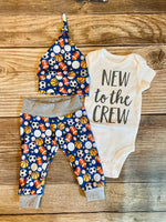 Royal Sports Newborn Outfit, new to the crew - Josie and James