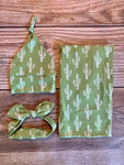The Green Cactus Swaddle Set - Josie and James