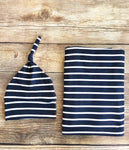 Navy Stripe Swaddle Set - Josie and James