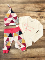 Garden Triangle Newborn Girl Outfit - Josie and James