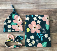 The Chloe Floral Swaddle Set - Josie and James