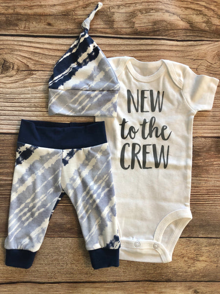 New to the Crew Felix Tie Dye Stripe Coming Home Outfit - Josie and James