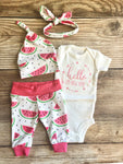 Summer Watermelon Newborn Coming Home Outfit - Josie and James