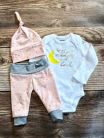 Pink Moon and Back Newborn Outfit - Josie and James