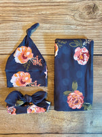 The Mabel Floral Swaddle Set - Josie and James