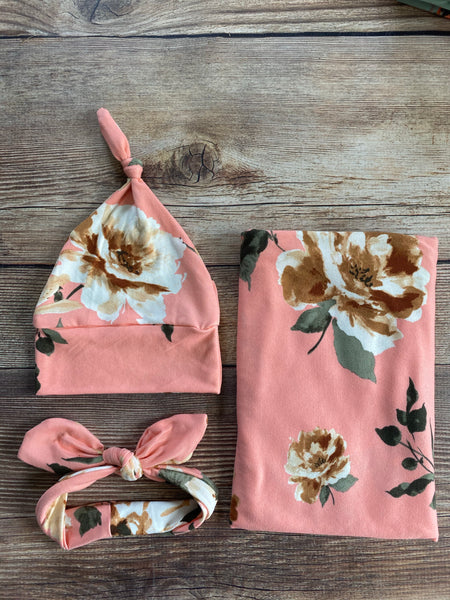 Candace Floral Swaddle Set - Josie and James