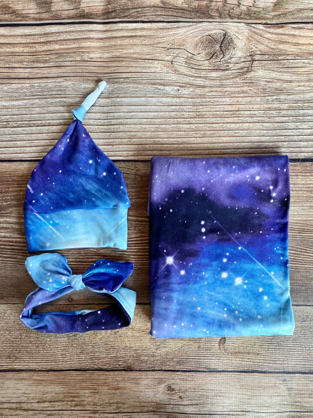Milky Way Galaxy Swaddle Set