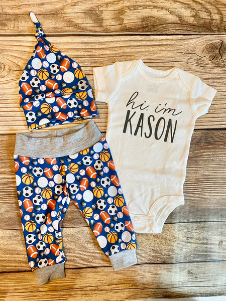 Royal Sports Newborn Outfit - Josie and James