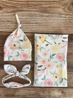 Madison Floral Swaddle Set - Josie and James