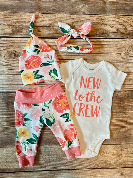 New to the Crew Marissa newborn outfit - Josie and James