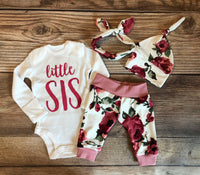 Harper Floral Coming Home Outfit, Little Sis