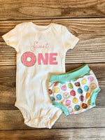 Sweet One donut birthday outfit - Josie and James